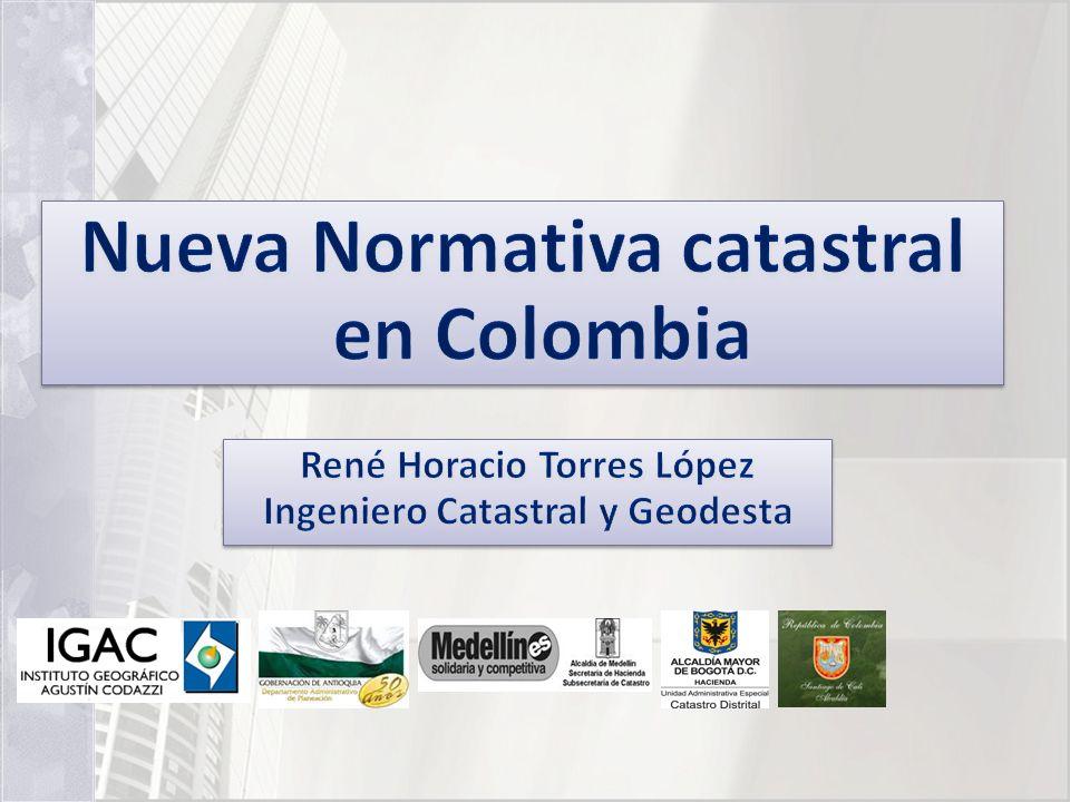 Nueva Normativa catastral en Colombia