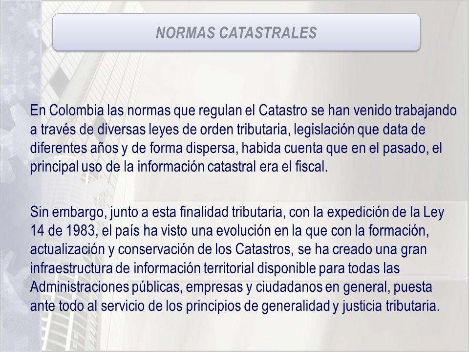 NORMAS CATASTRALES