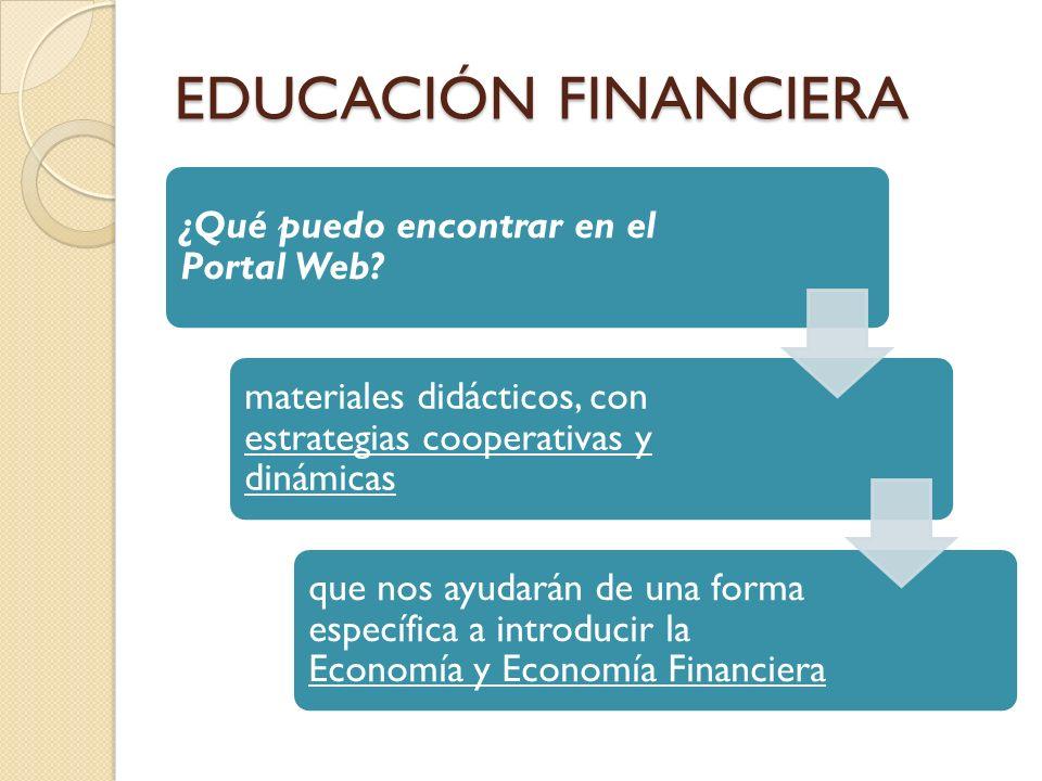 EDUCACIÓN FINANCIERA ¿Qué puedo encontrar en el Portal Web