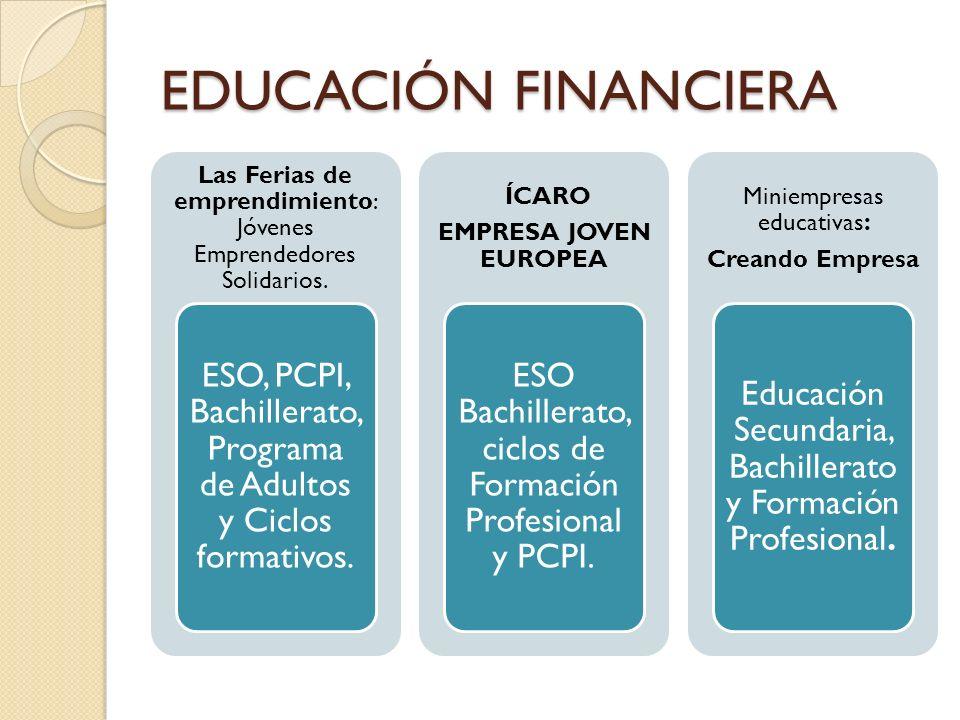 EDUCACIÓN FINANCIERA Las Ferias de emprendimiento: Jóvenes Emprendedores Solidarios.