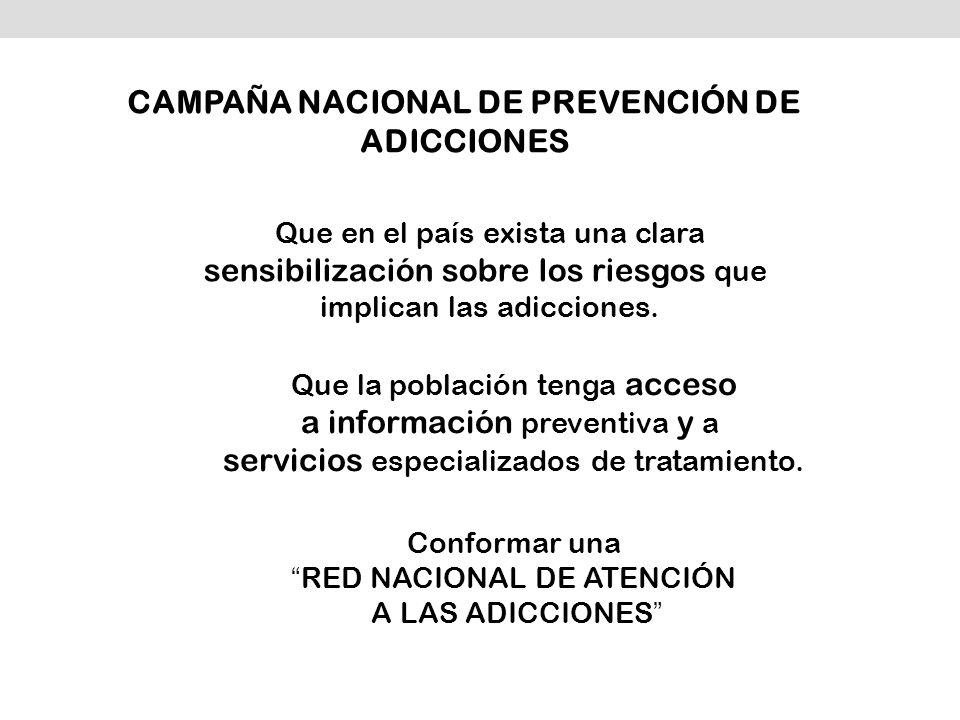 CAMPAÑA NACIONAL DE PREVENCIÓN DE ADICCIONES