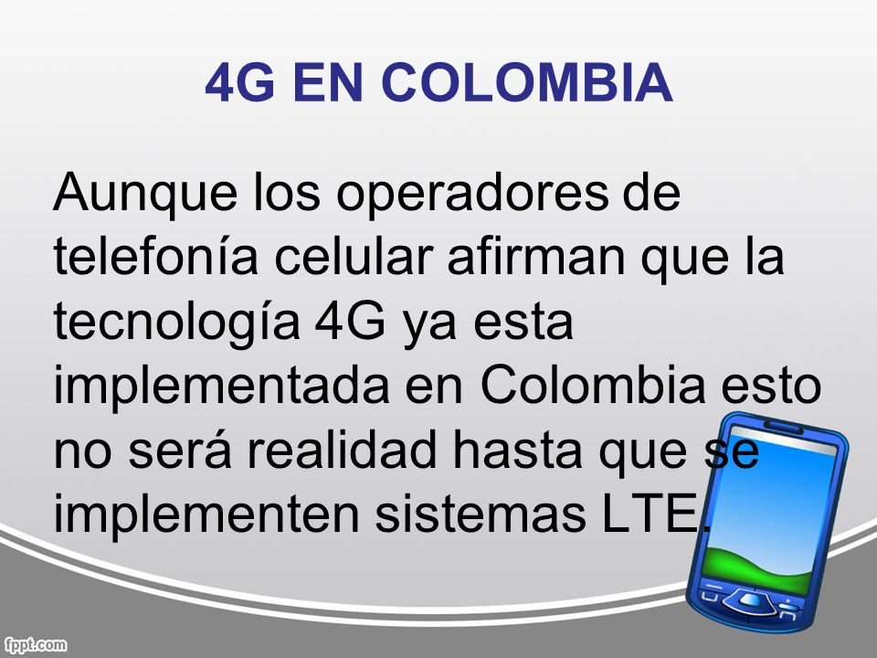 4G EN COLOMBIA