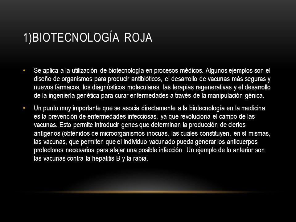 1)Biotecnología roja