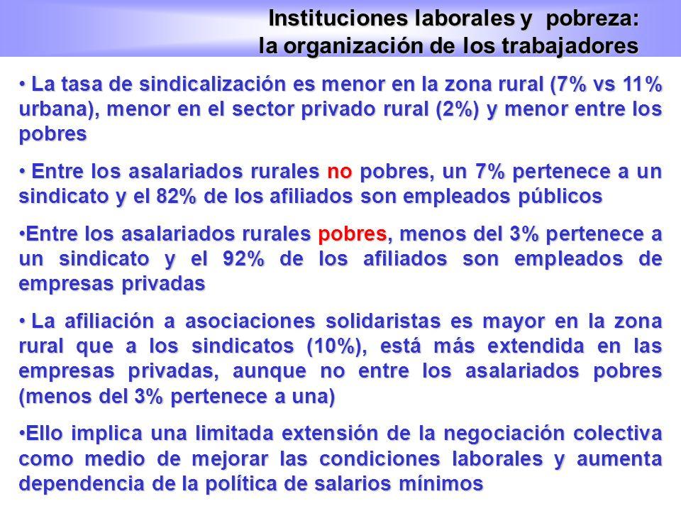 Instituciones laborales y pobreza: la organización de los trabajadores