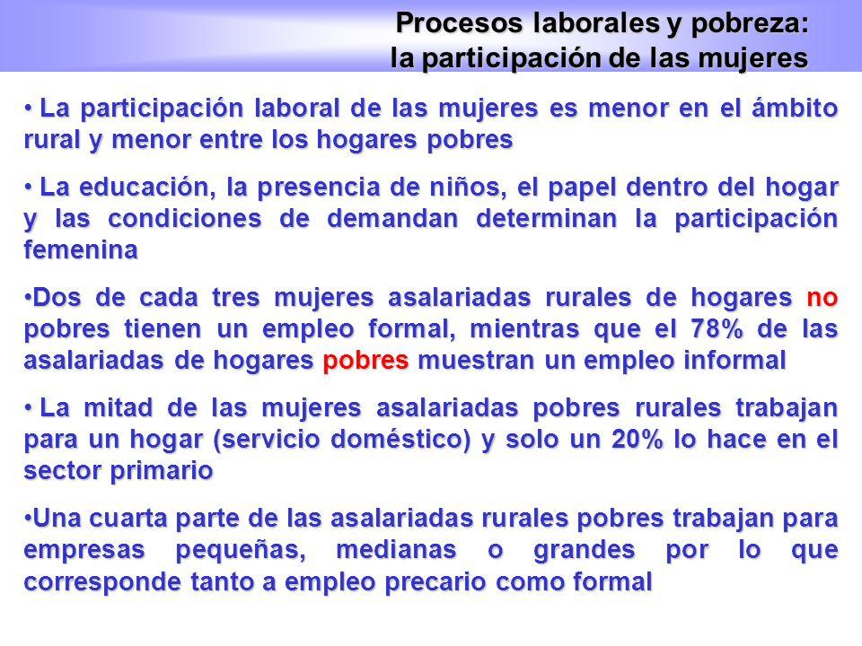 Procesos laborales y pobreza: la participación de las mujeres
