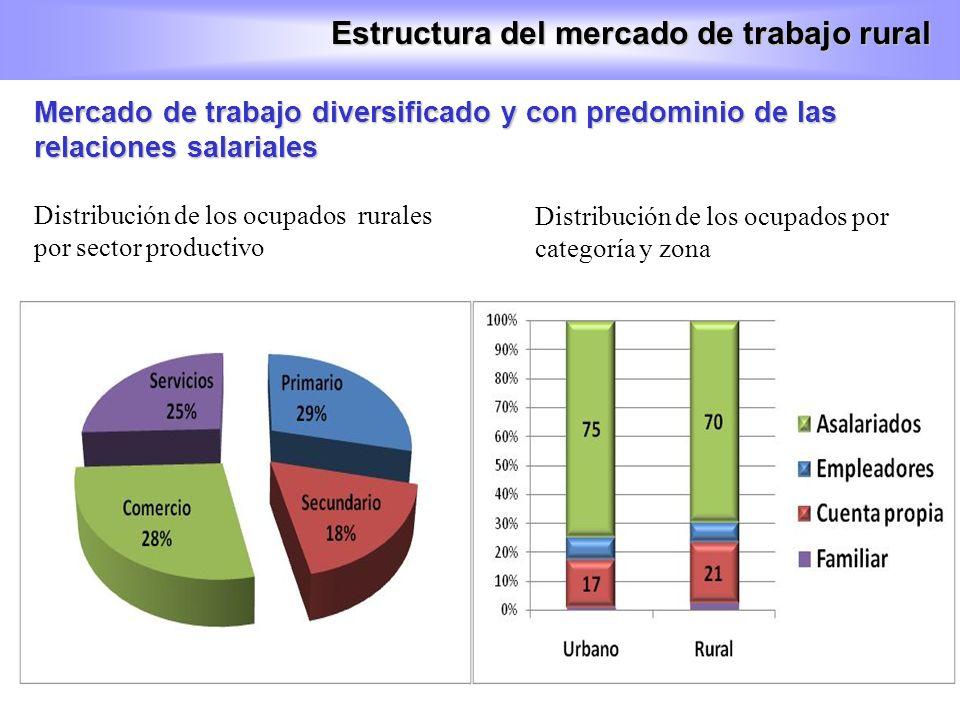 Estructura del mercado de trabajo rural