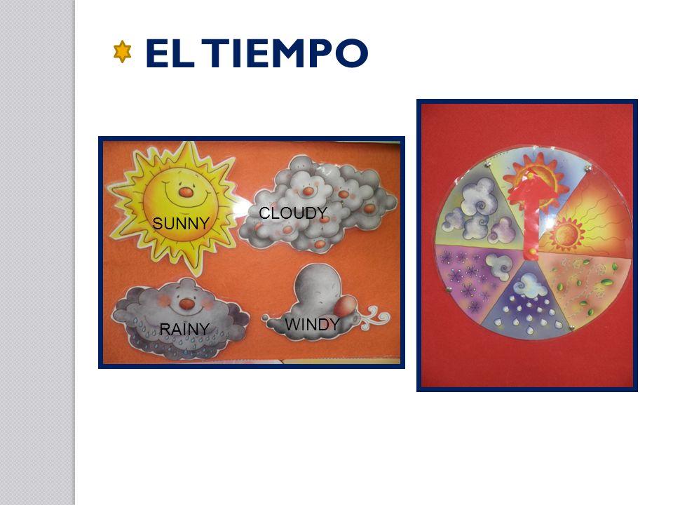 EL TIEMPO CLOUDY SUNNY WINDY RAINY