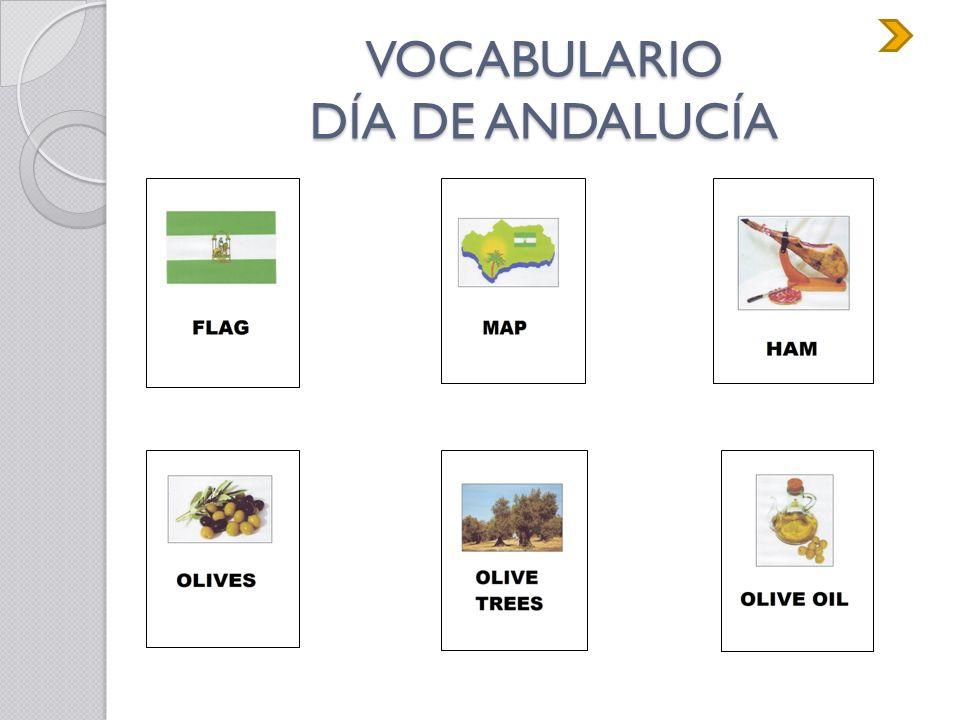 VOCABULARIO DÍA DE ANDALUCÍA