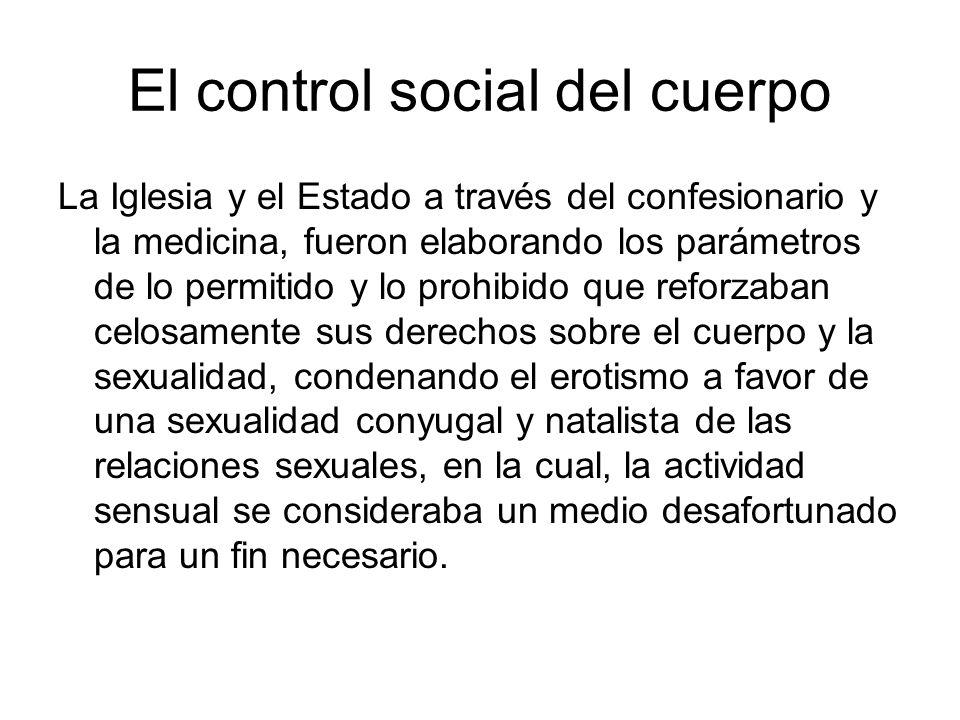 El control social del cuerpo