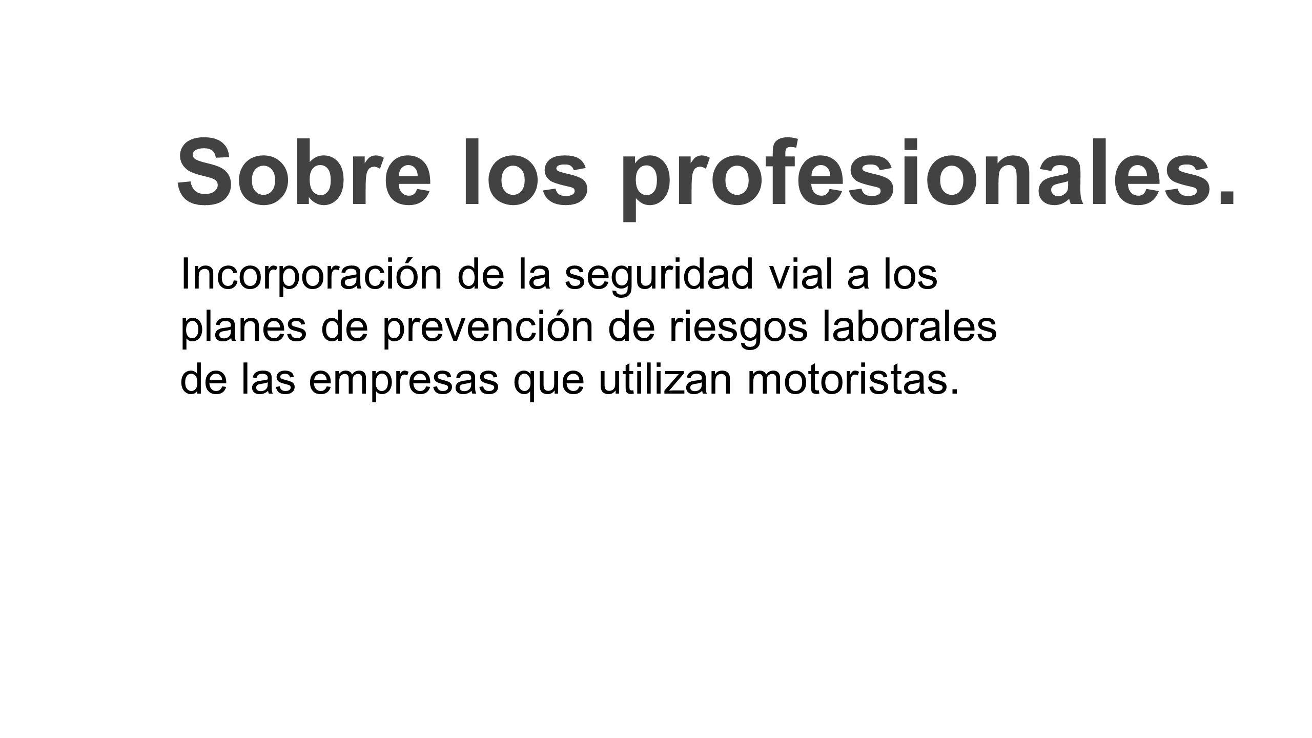 Sobre los profesionales.