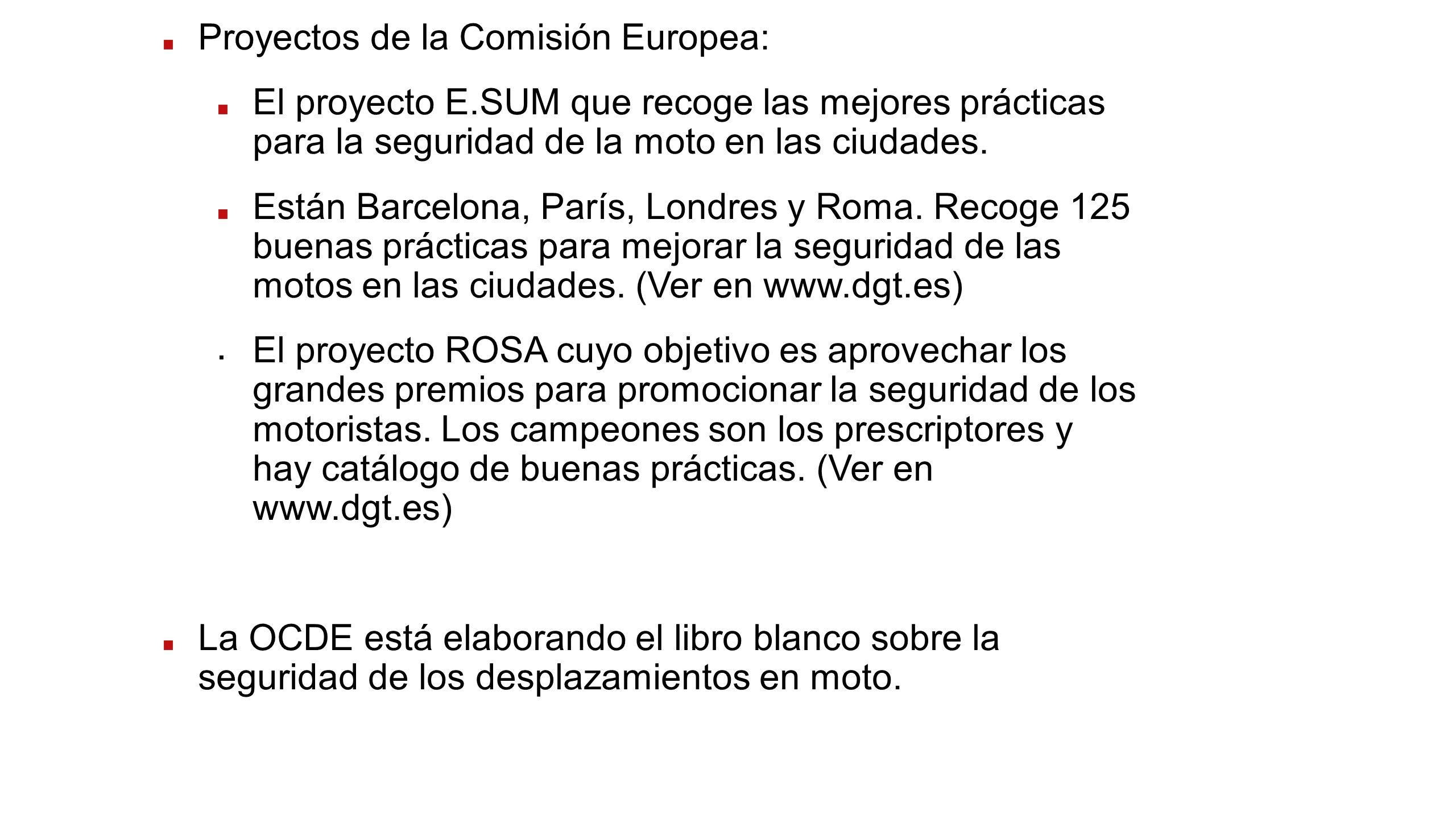 Proyectos de la Comisión Europea:
