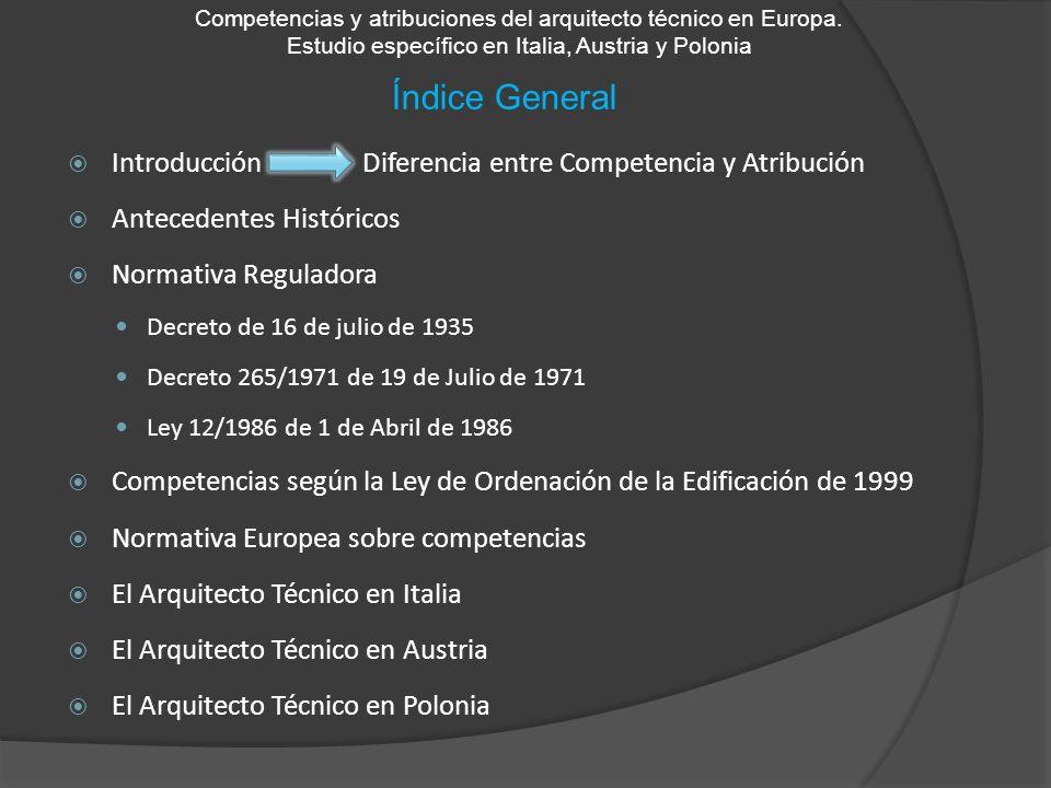Índice General Introducción Diferencia entre Competencia y Atribución