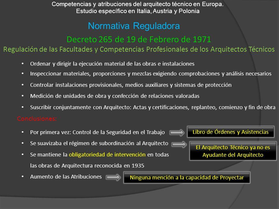 Decreto 265 de 19 de Febrero de 1971