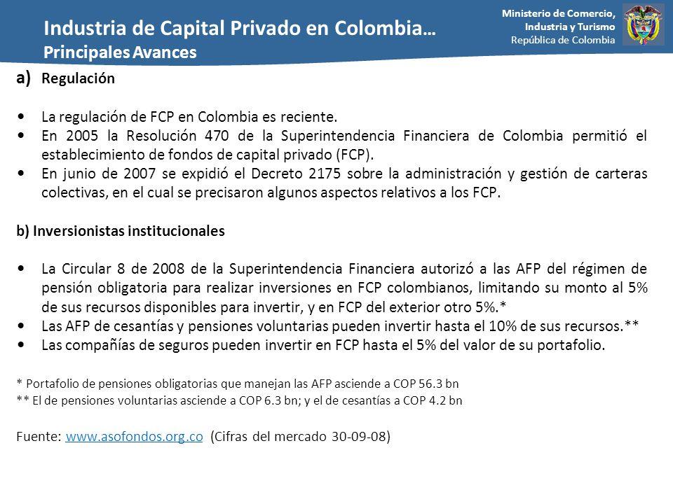 Industria de Capital Privado en Colombia…