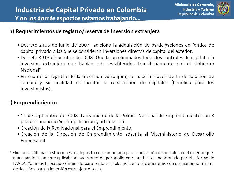 Industria de Capital Privado en Colombia