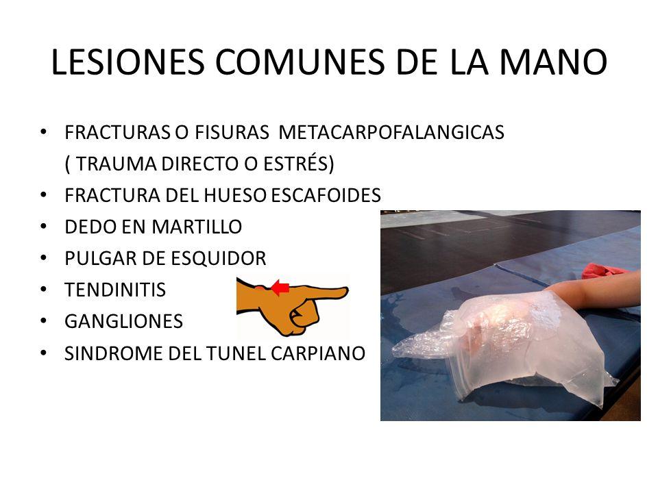LESIONES COMUNES DE LA MANO