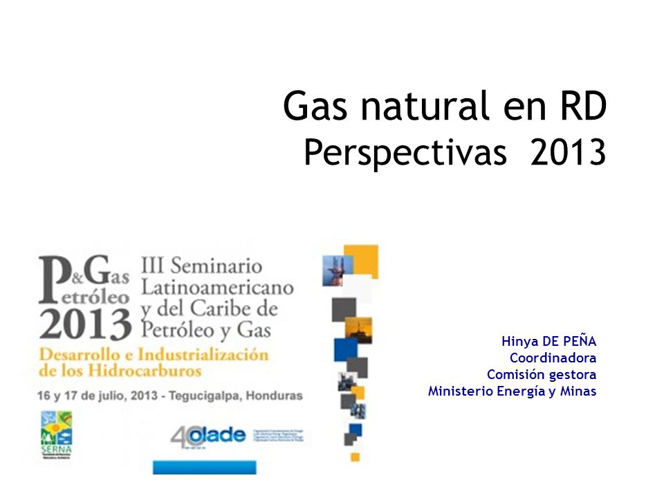 Gas natural en RD Perspectivas 2013