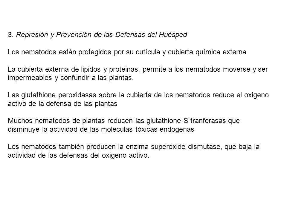 3. Represión y Prevención de las Defensas del Huésped