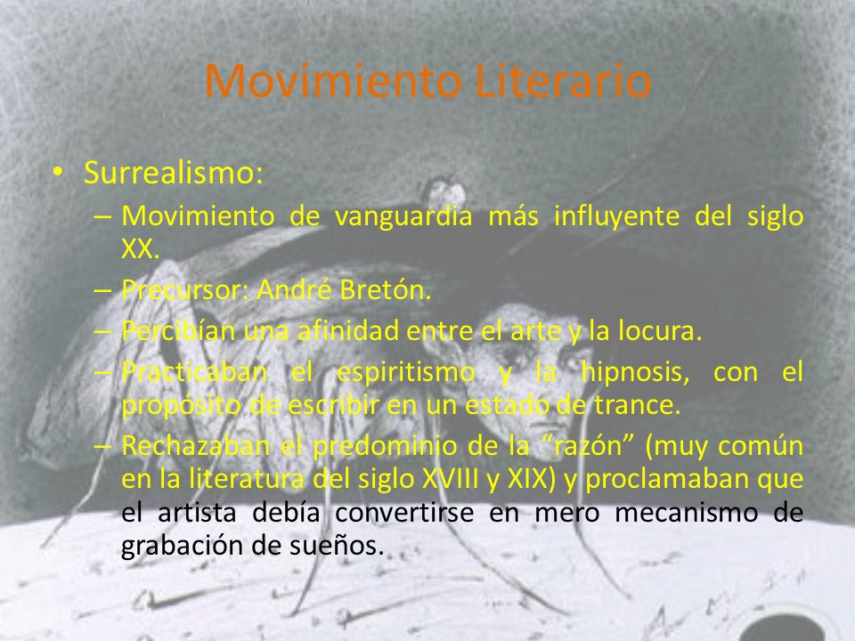 Movimiento Literario Surrealismo: