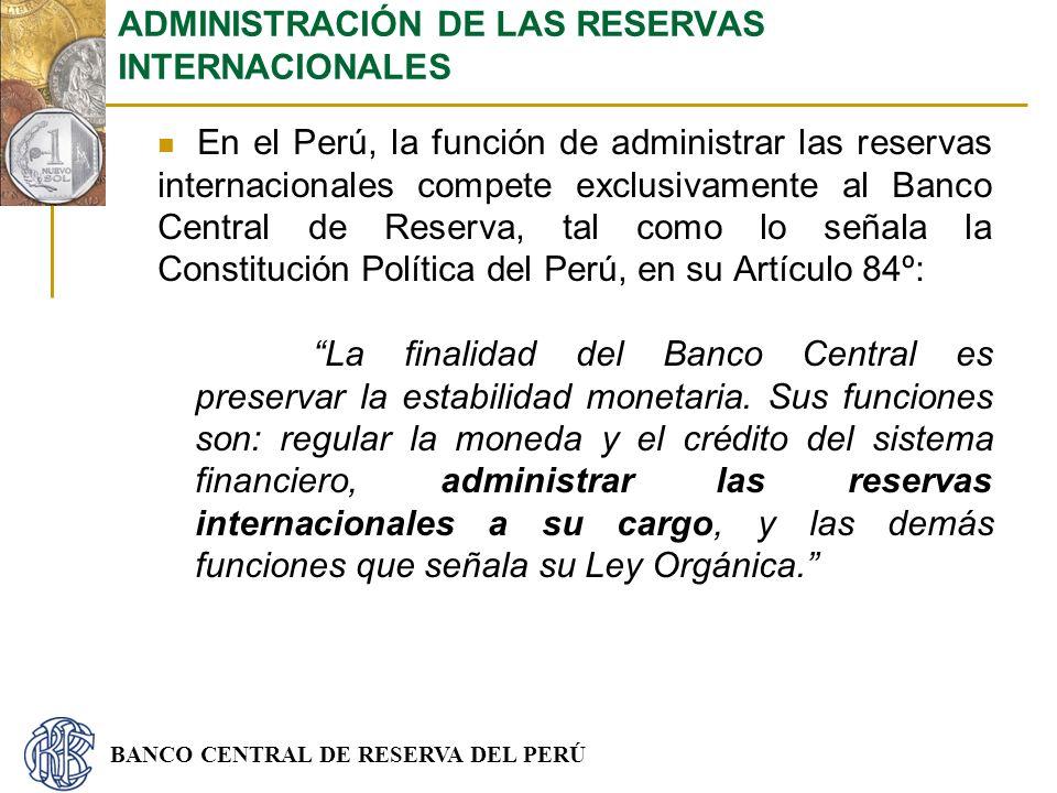 ADMINISTRACIÓN DE LAS RESERVAS INTERNACIONALES