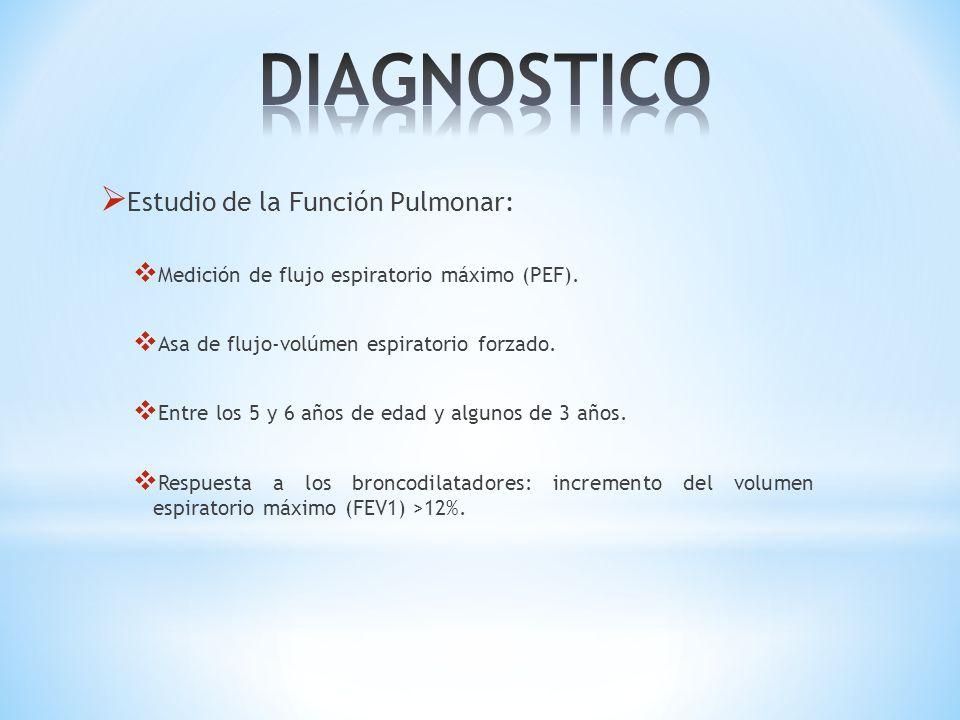DIAGNOSTICO Estudio de la Función Pulmonar: