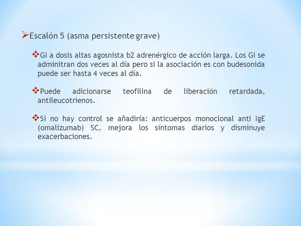Escalón 5 (asma persistente grave)