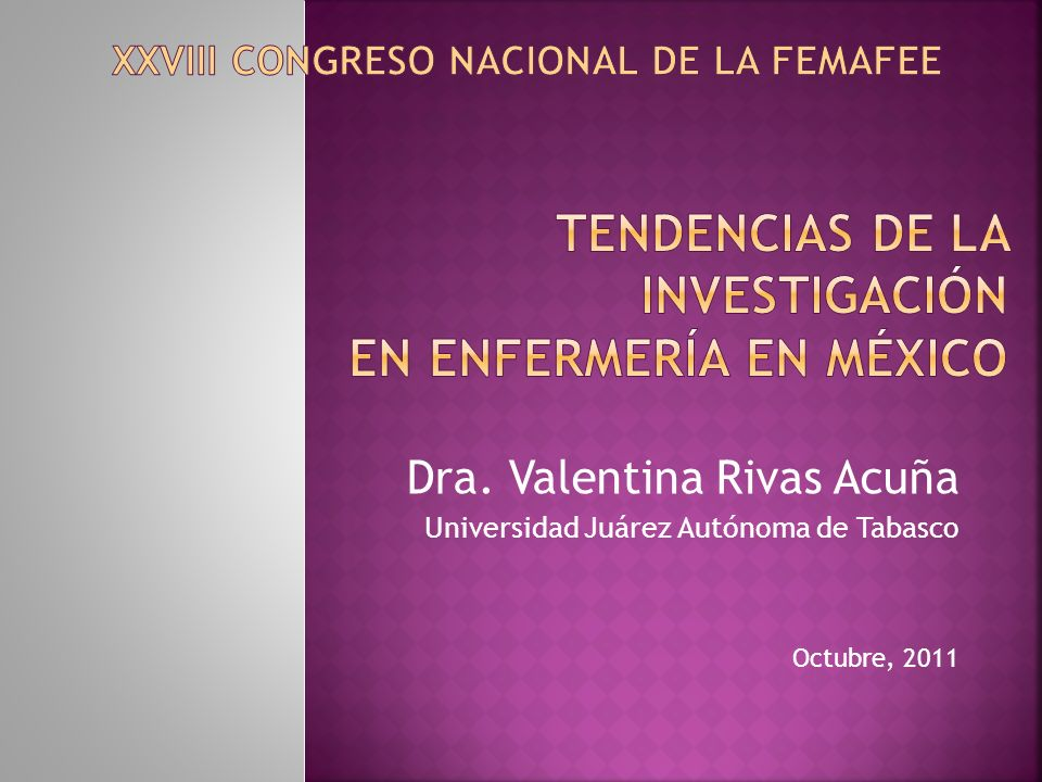 Tendencias de la Investigación en Enfermería en México