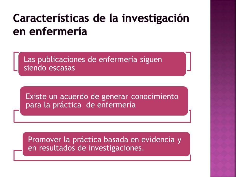 Características de la investigación en enfermería