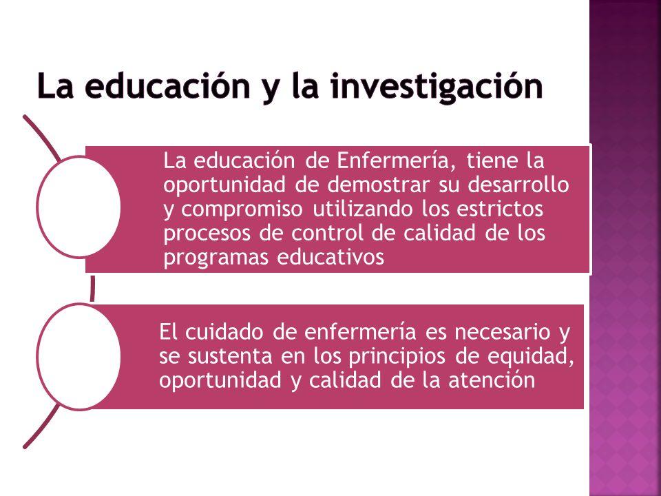 La educación y la investigación