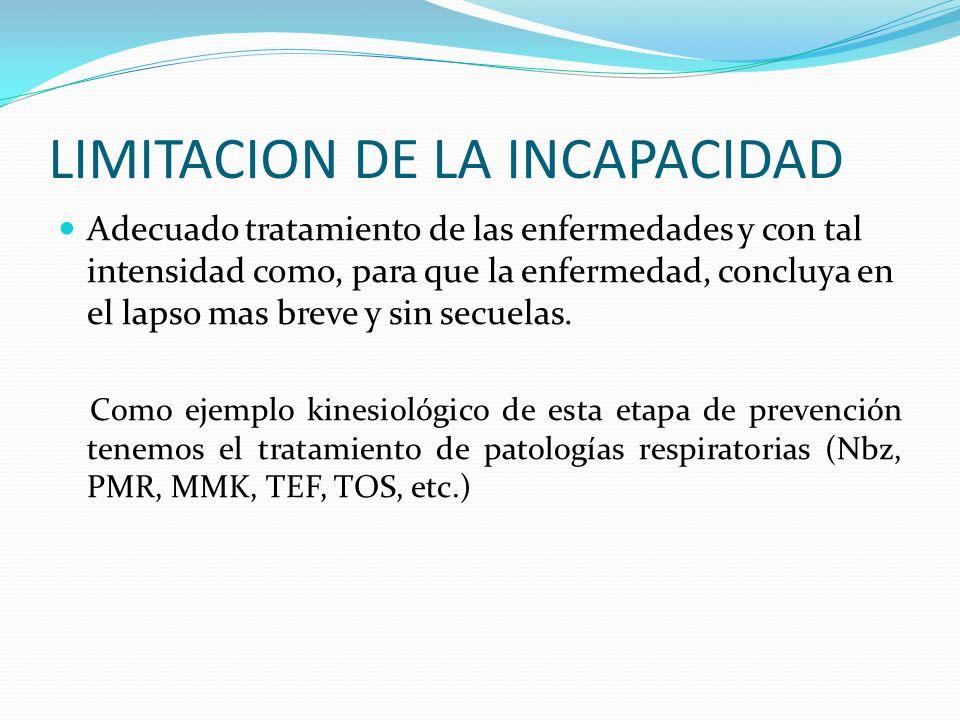 LIMITACION DE LA INCAPACIDAD