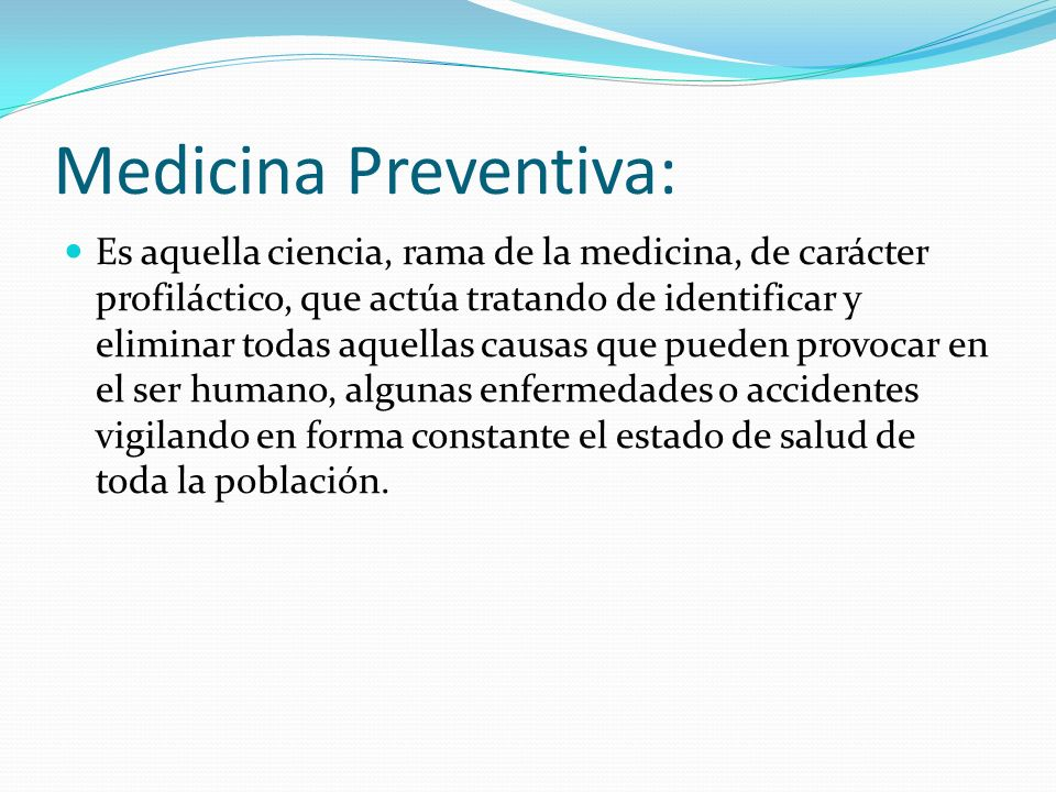 Medicina Preventiva: