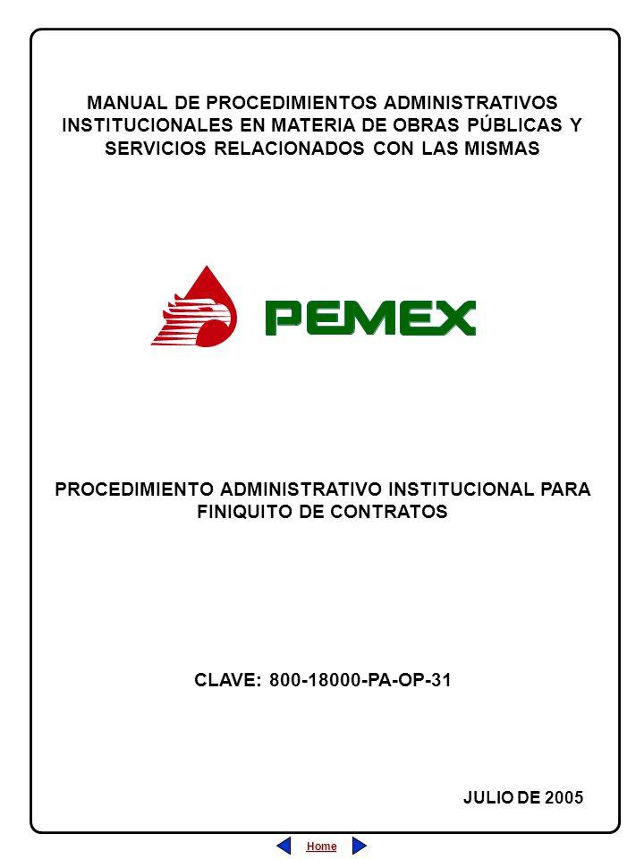 PROCEDIMIENTO ADMINISTRATIVO INSTITUCIONAL PARA FINIQUITO DE CONTRATOS
