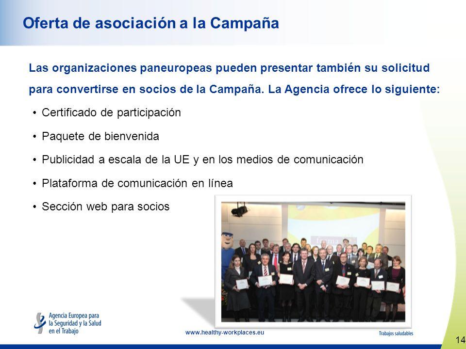 Oferta de asociación a la Campaña