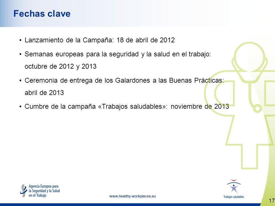 Fechas clave Lanzamiento de la Campaña: 18 de abril de 2012