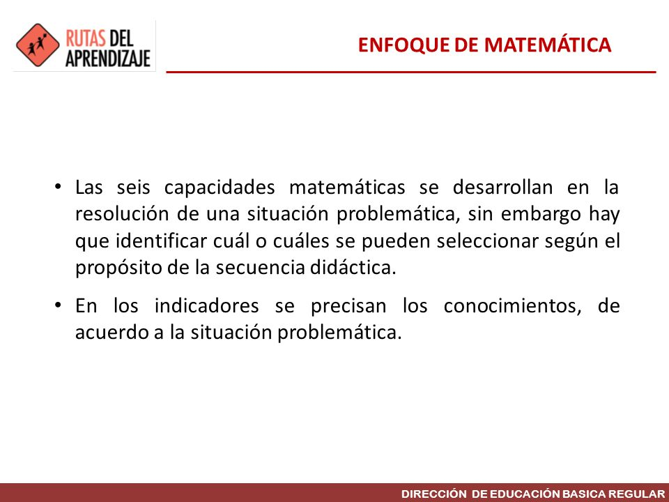 ENFOQUE DE MATEMÁTICA