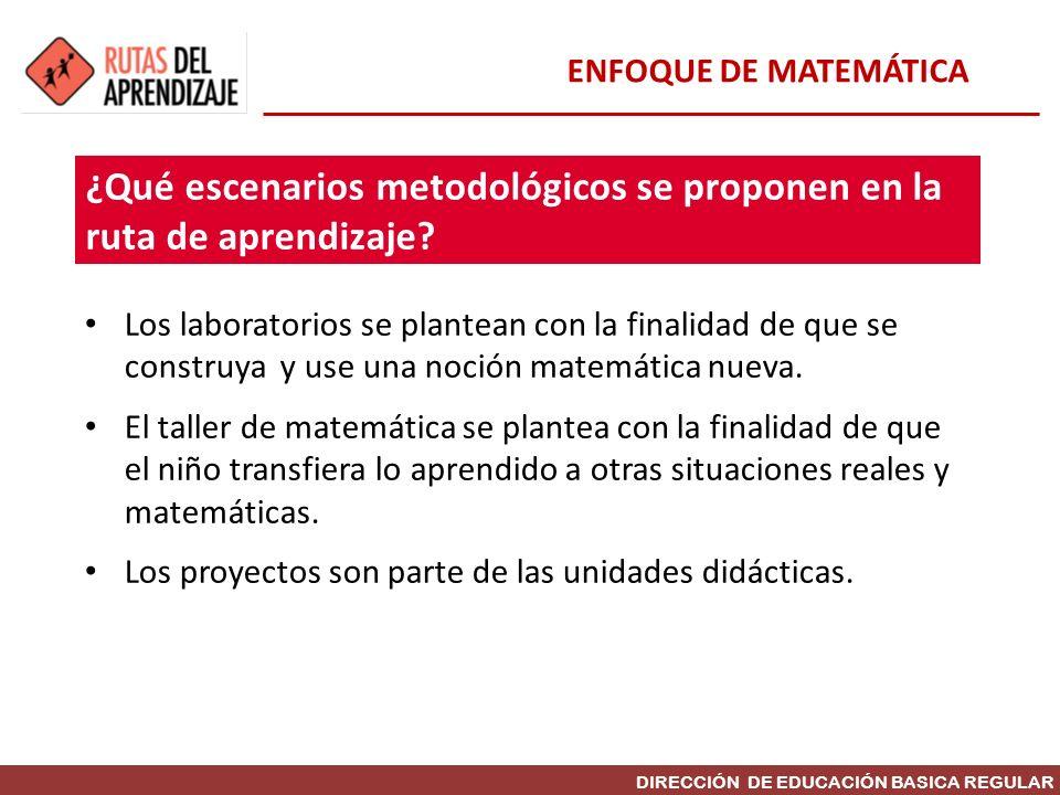 ¿Qué escenarios metodológicos se proponen en la ruta de aprendizaje