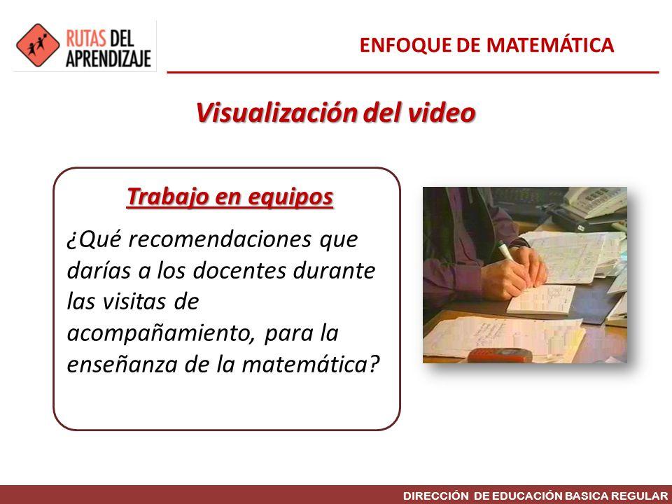 Visualización del video