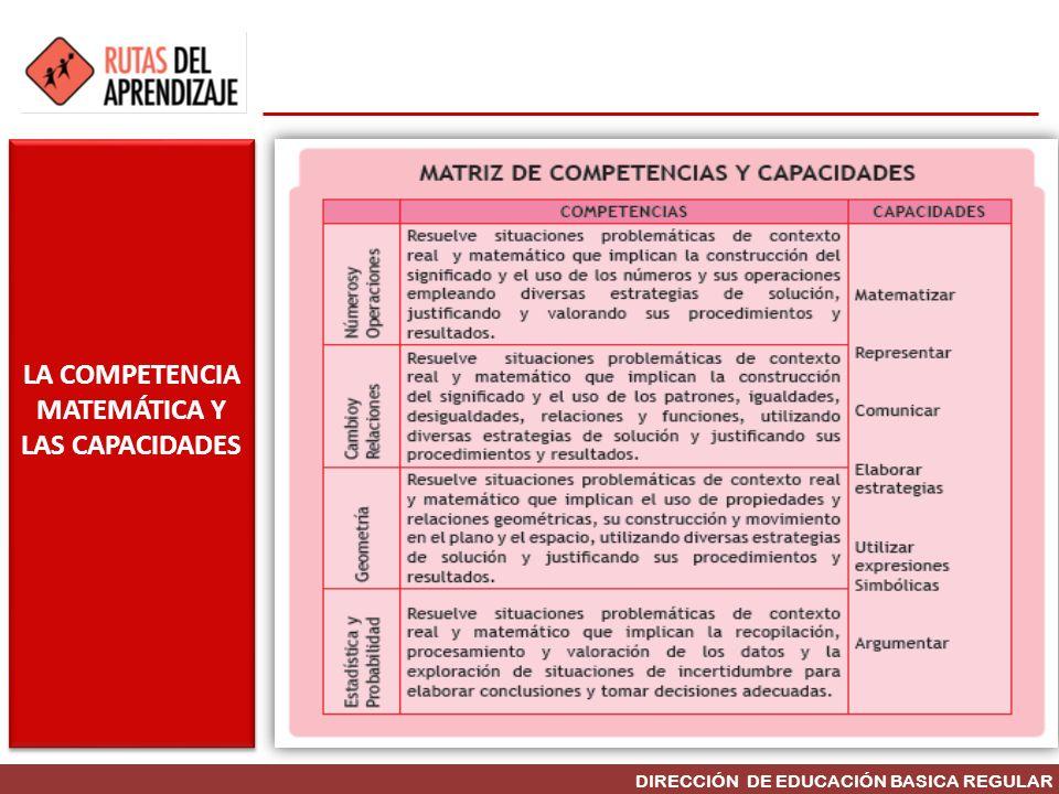 LA COMPETENCIA MATEMÁTICA Y LAS CAPACIDADES