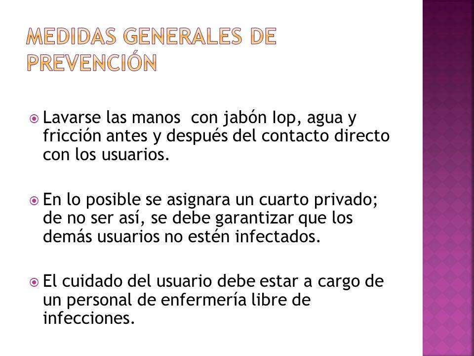 MEDIDAS GENERALES DE PREVENCIÓN