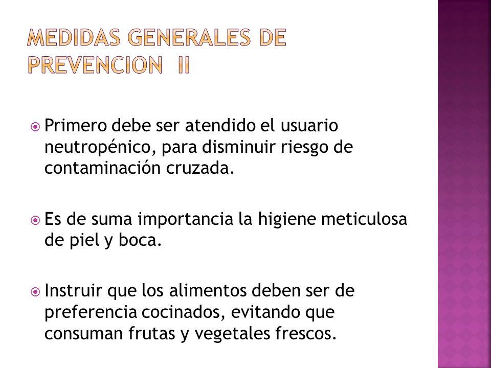 Medidas generales de prevencion ii
