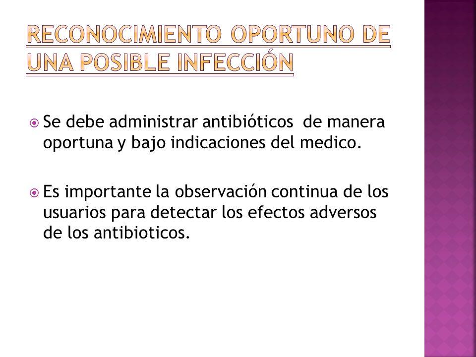 Reconocimiento oportuno de una posible infección