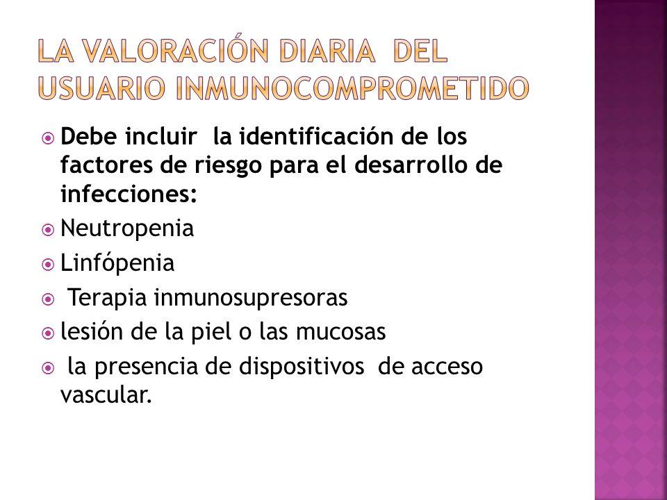 La valoración diaria del usuario inmunocomprometido