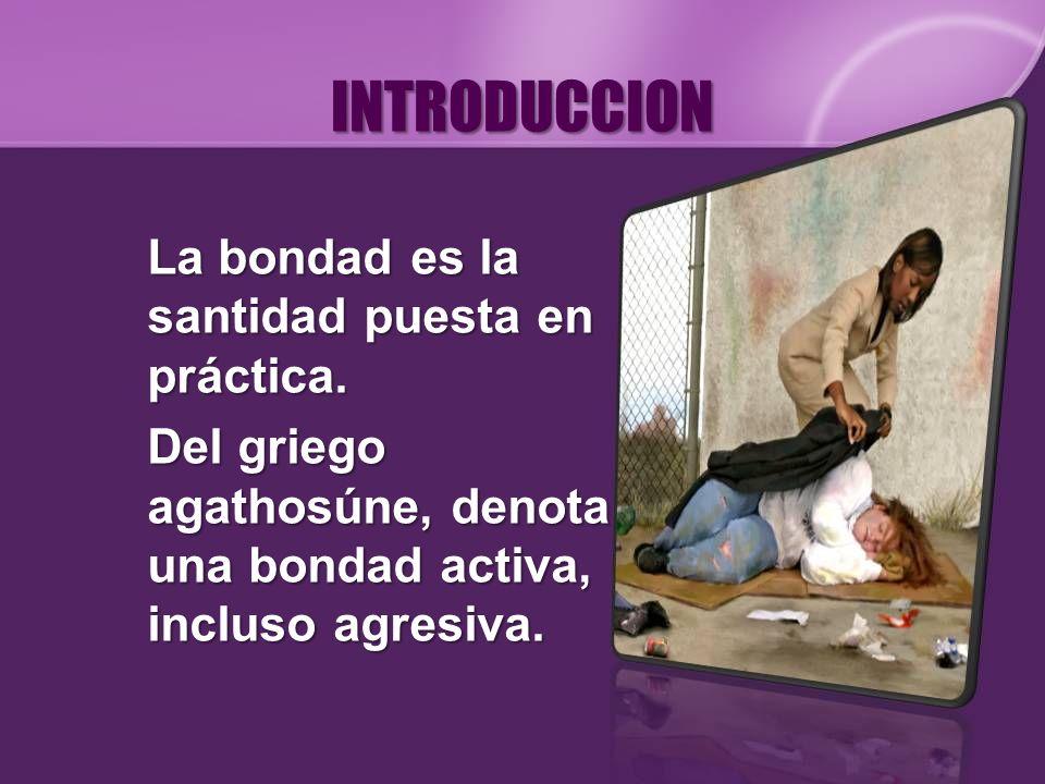INTRODUCCION La bondad es la santidad puesta en práctica.