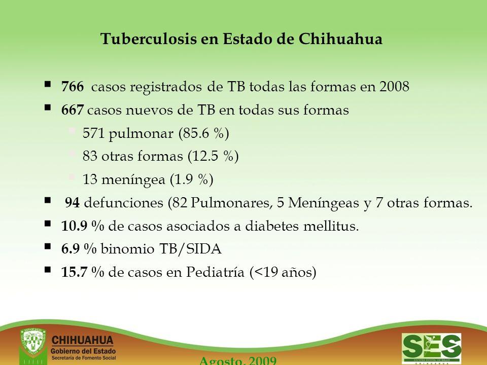 Tuberculosis en Estado de Chihuahua