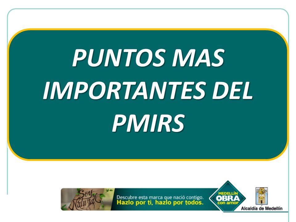 PUNTOS MAS IMPORTANTES DEL PMIRS