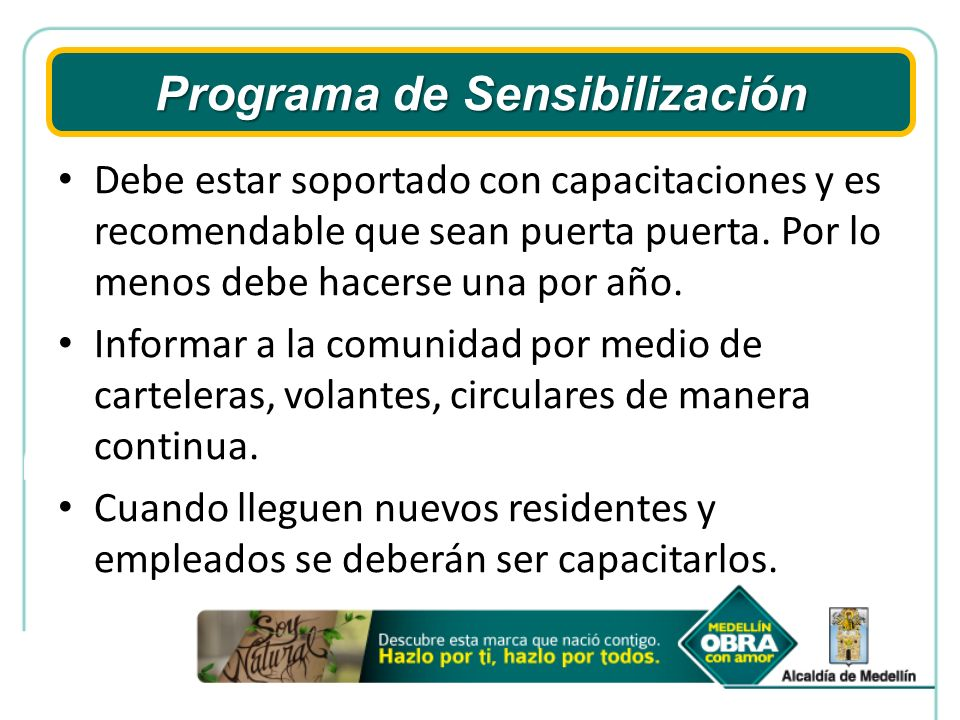 Programa de Sensibilización
