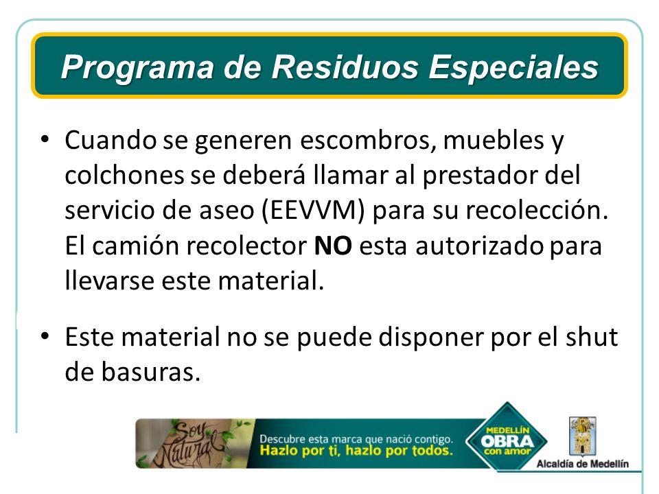 Programa de Residuos Especiales