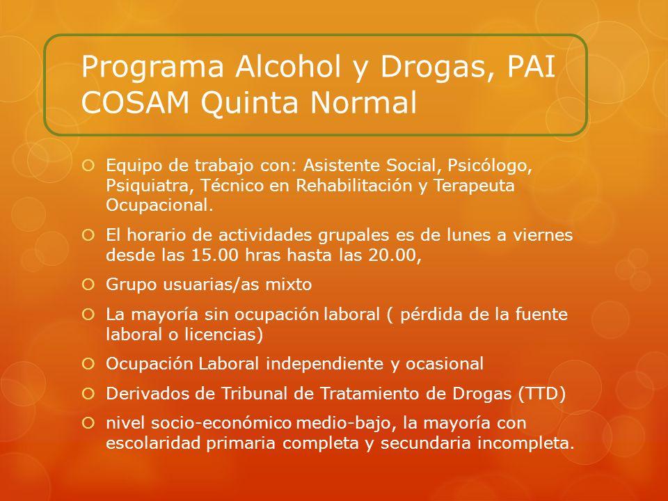 Programa Alcohol y Drogas, PAI COSAM Quinta Normal