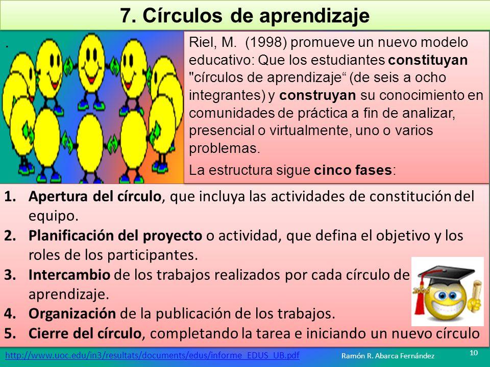 7. Círculos de aprendizaje