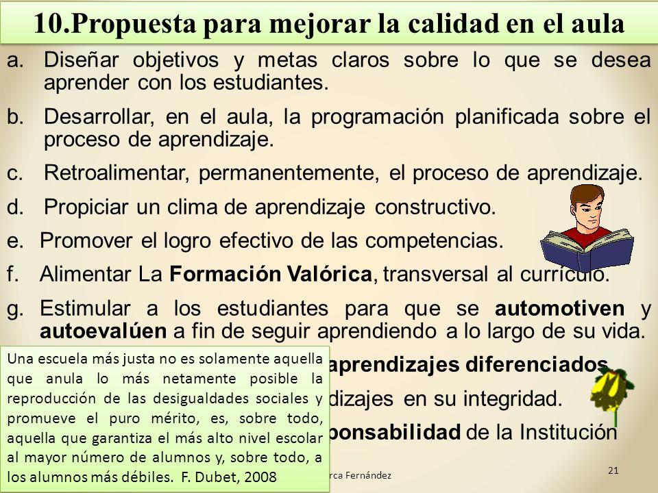 10.Propuesta para mejorar la calidad en el aula